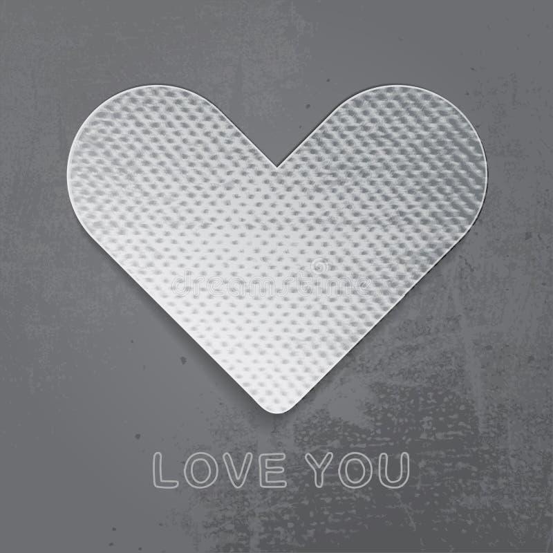 Download Бумажное сердце на серой предпосылке. Иллюстрация вектора - иллюстрации насчитывающей художничества, приглашение: 40587258