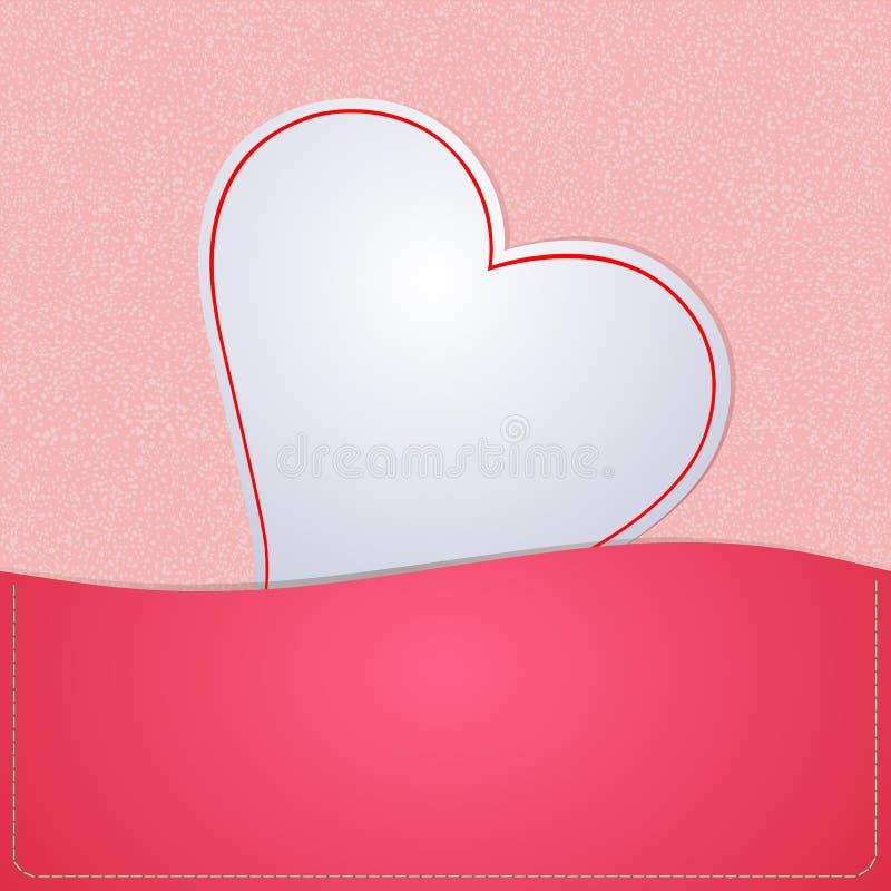 Бумажное сердце для предпосылки бесплатная иллюстрация