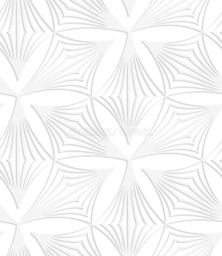 Бумажные белые заострённые striped трилистники бесплатная иллюстрация