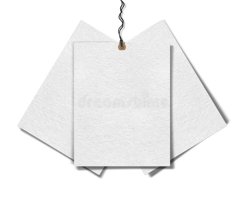 Бумажные бирки продажи для продаж стоковое фото rf