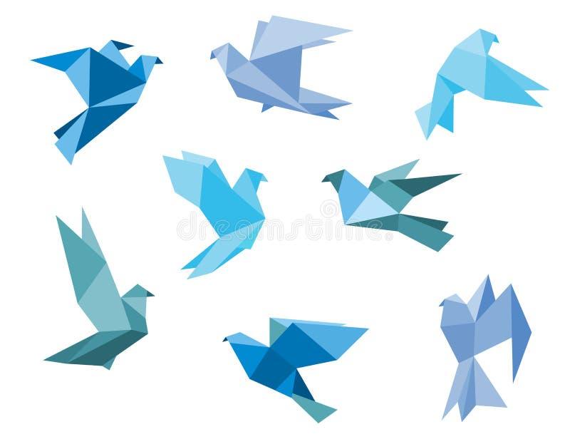 Бумажные голуби и голуби бесплатная иллюстрация