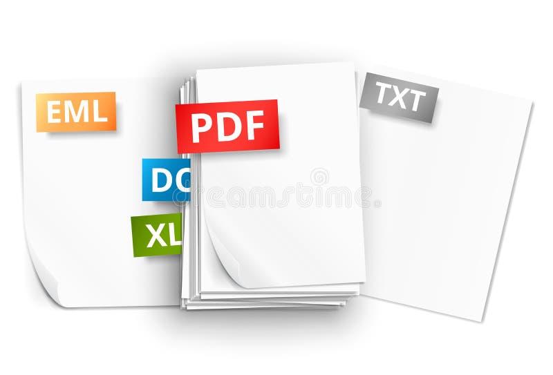 Бумажные значки листа бесплатная иллюстрация