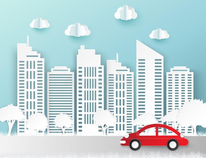 Бумажные небоскребы Здание Achitectural город самомоднейший бесплатная иллюстрация