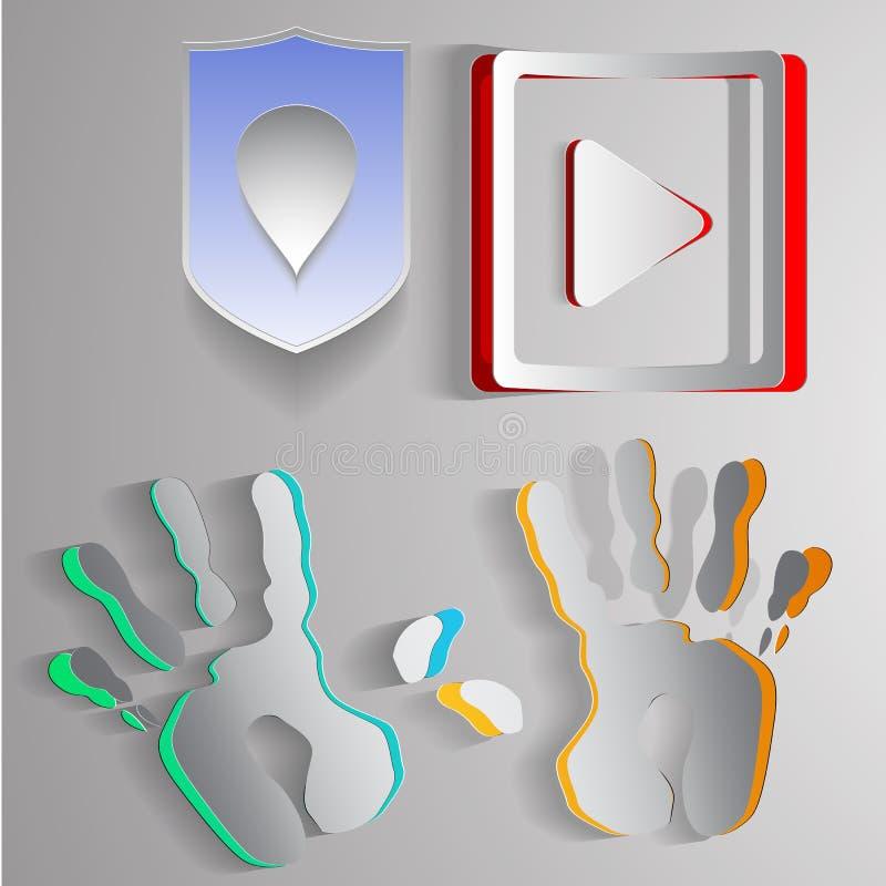 Бумажные логотипы бесплатная иллюстрация
