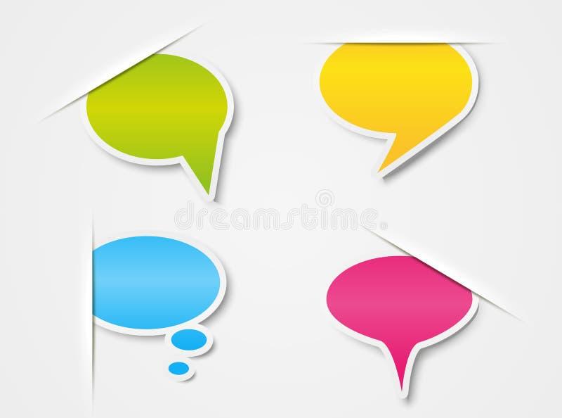 Бумажные пузыри речи бесплатная иллюстрация