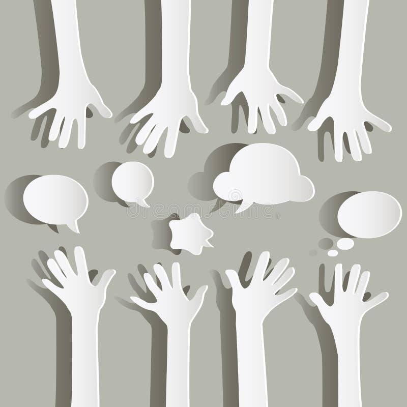 бумажные руки бесплатная иллюстрация