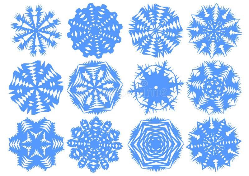 бумажные снежинки иллюстрация штока