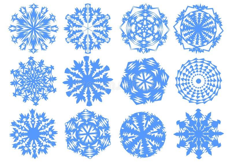 бумажные снежинки бесплатная иллюстрация