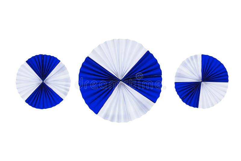 Бумажные филигранные прокладки сложенные в волнах стоковые изображения