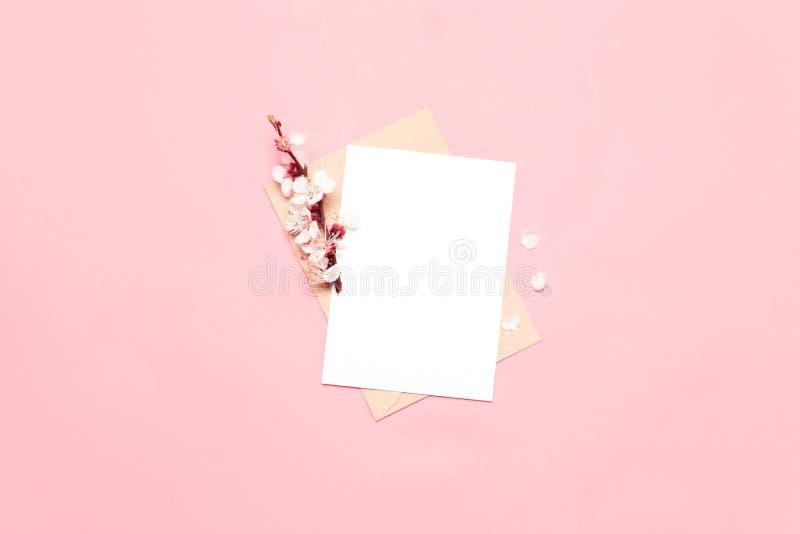 Модель-макет с цветками стоковое фото rf
