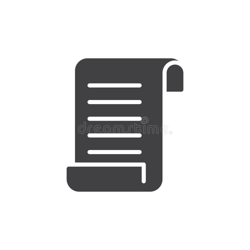 Бумажный вектор значка иллюстрация вектора
