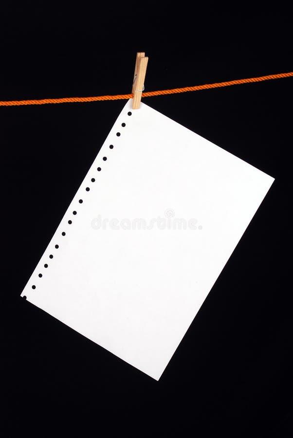 Бумажный зажим стоковое фото rf