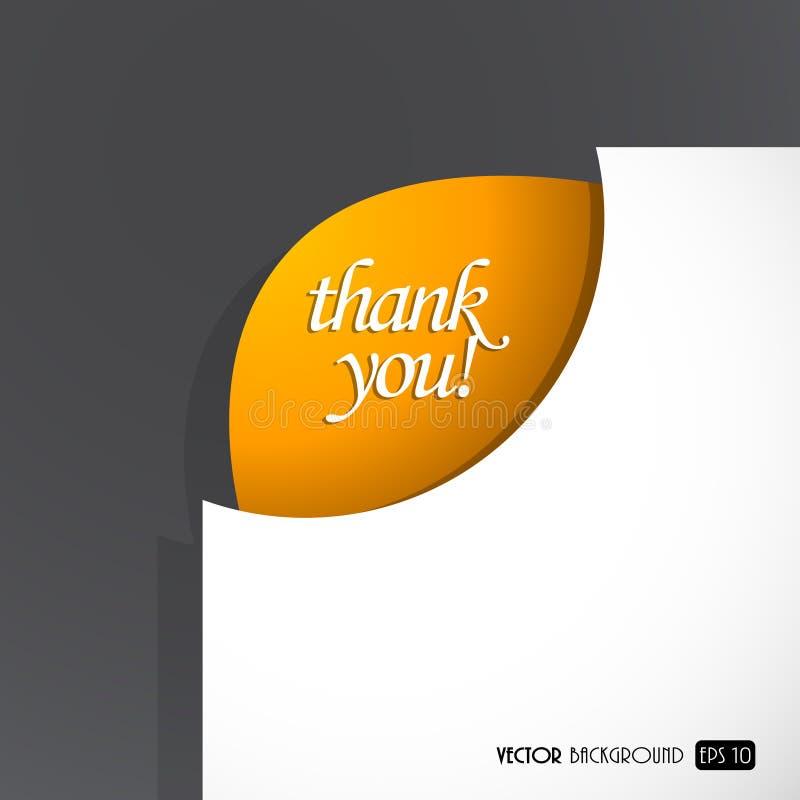 Download бумажный знак листа благодарит вас Иллюстрация вектора - иллюстрации насчитывающей изображение, форма: 18395884