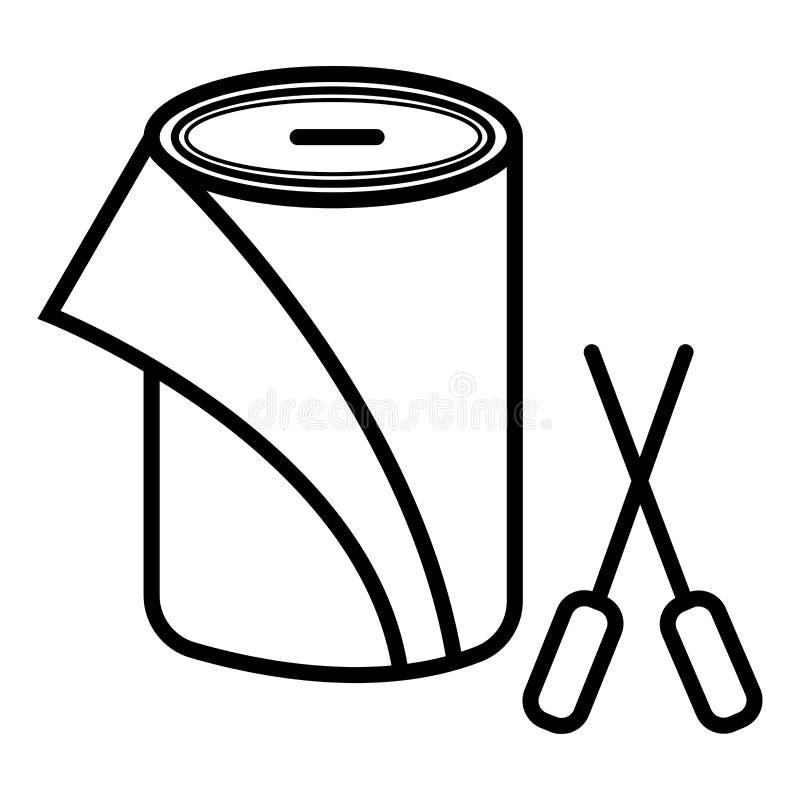 Бумажный значок вектора крена иллюстрация вектора