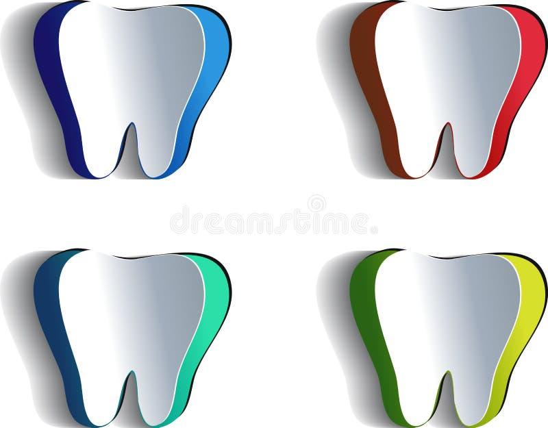 Download Бумажный зуб иллюстрация вектора. иллюстрации насчитывающей художничества - 33725125