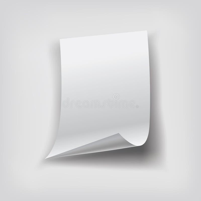 бумажный лист иллюстрация вектора