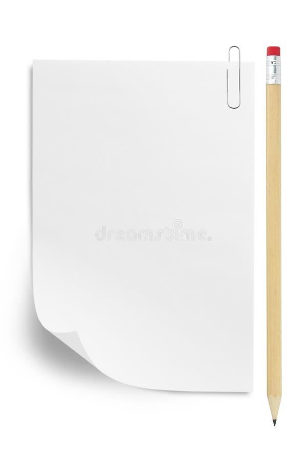 бумажный карандаш стоковое изображение rf