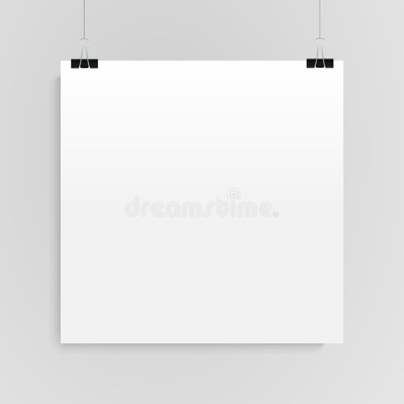 Бумажный квадратный вектор знамени Насмешка вверх иллюстрация штока