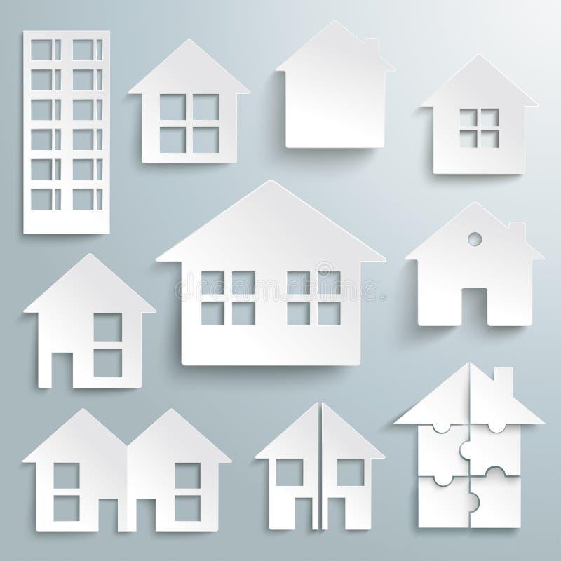 Бумажный комплект дома бесплатная иллюстрация