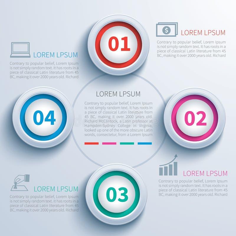 Бумажный круг infographic иллюстрация штока