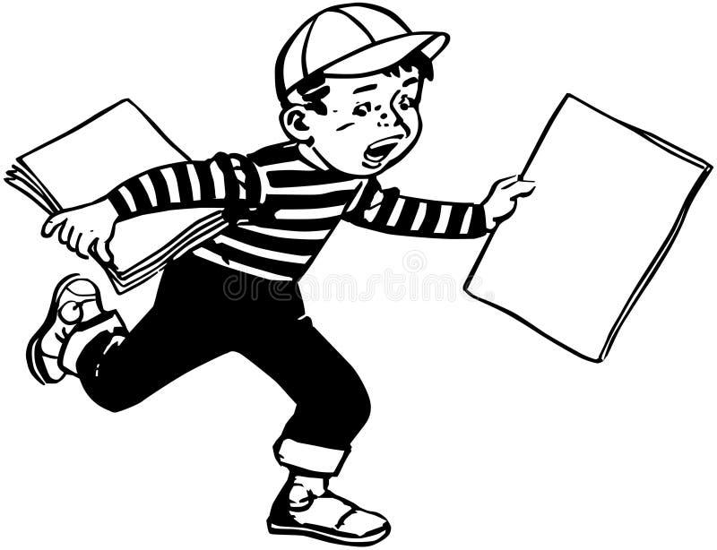 Бумажный мальчик иллюстрация вектора