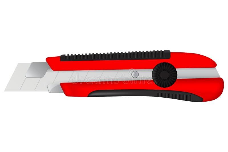 Бумажный нож для разрезания иллюстрация штока