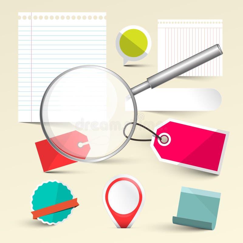 Бумажный опорожните ярлыки - бирки и бумажные листы бесплатная иллюстрация