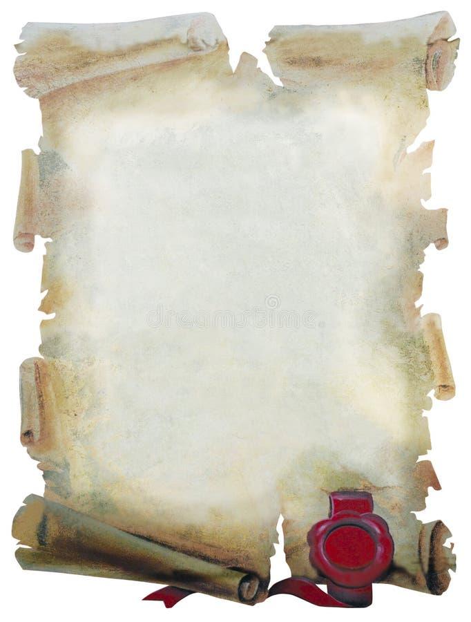 бумажный пергамент иллюстрация вектора