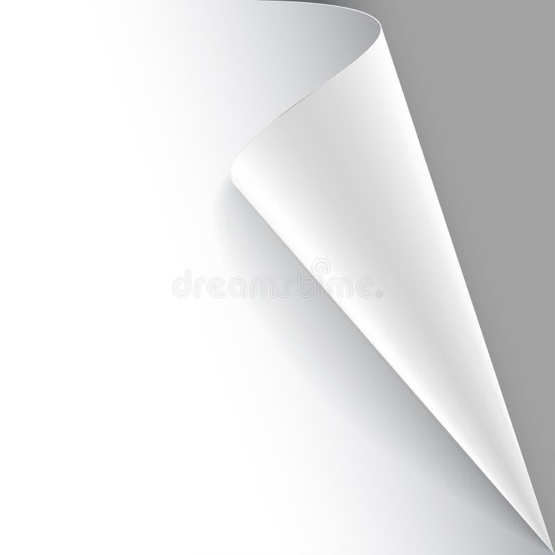 Бумажный плакат с обернутым вверх углом бесплатная иллюстрация