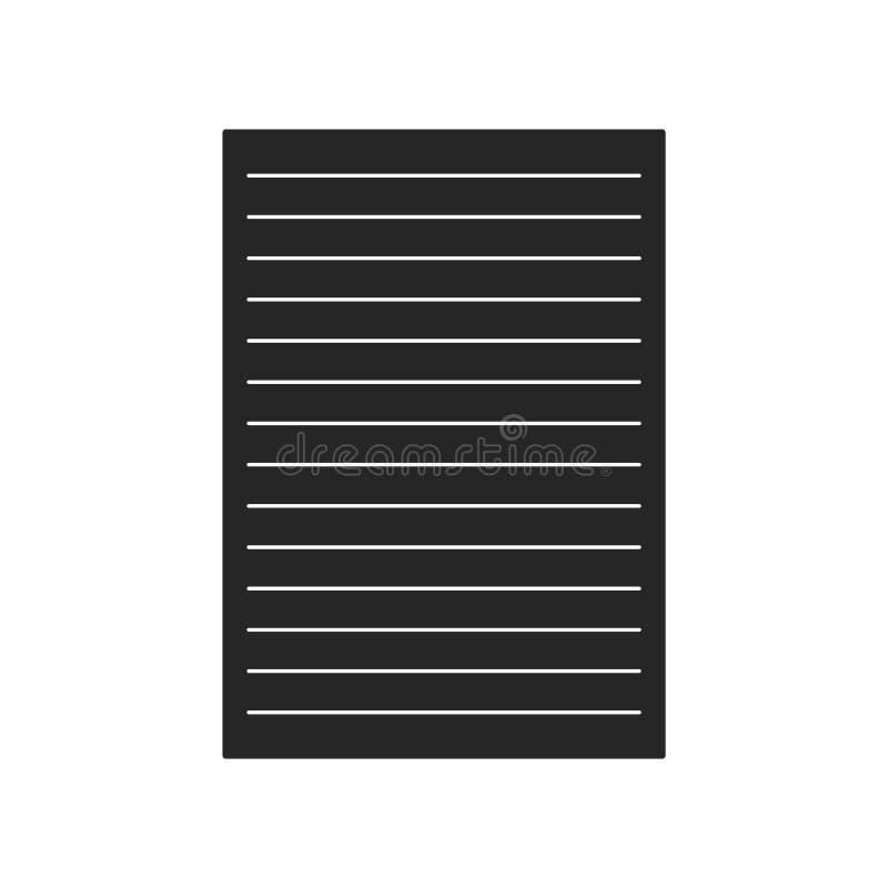 Бумажный плоский значок на белой предпосылке, для любого случая бесплатная иллюстрация