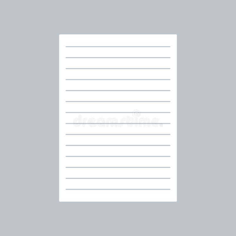 Бумажный плоский значок на серой предпосылке, для любого случая бесплатная иллюстрация