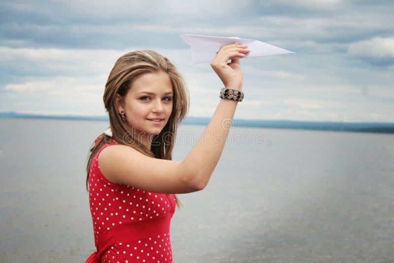 бумажный плоский подросток стоковые фото