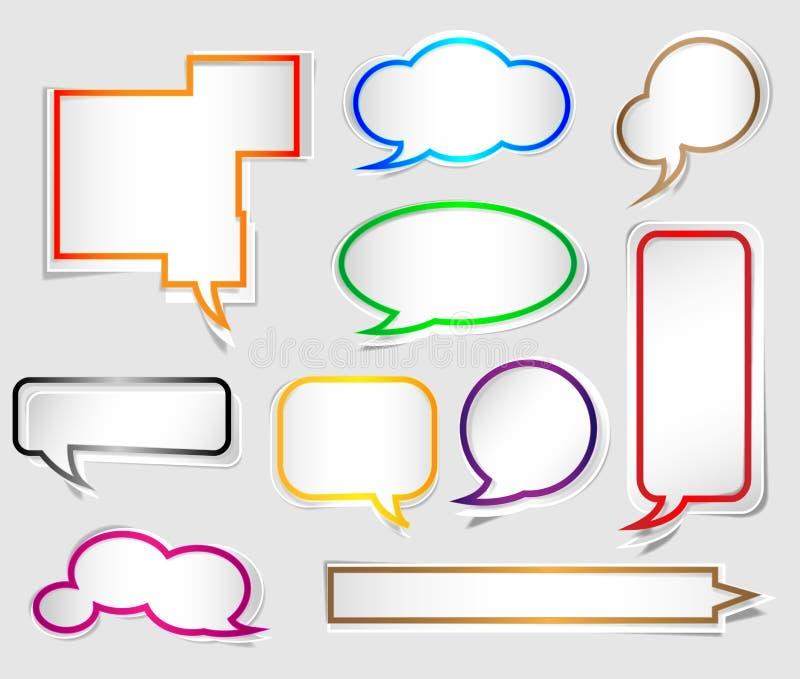 Download Бумажный пузырь речи Origami Иллюстрация вектора - иллюстрации насчитывающей собрание, конспектов: 33734193