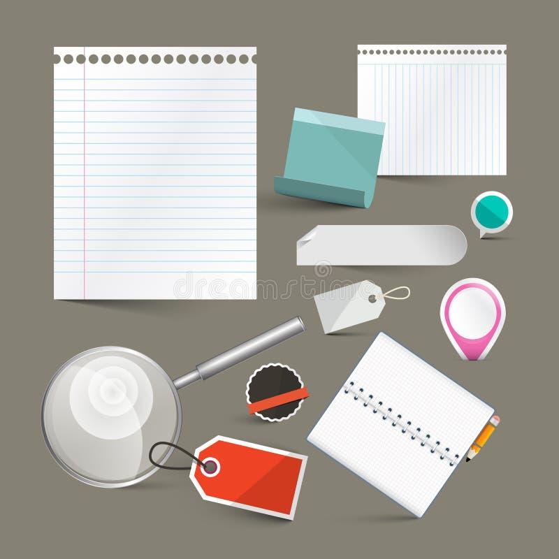 Бумажный пустой комплект вектора ярлыков бесплатная иллюстрация