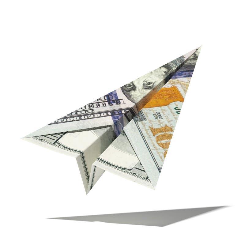 Бумажный самолет доллара бесплатная иллюстрация