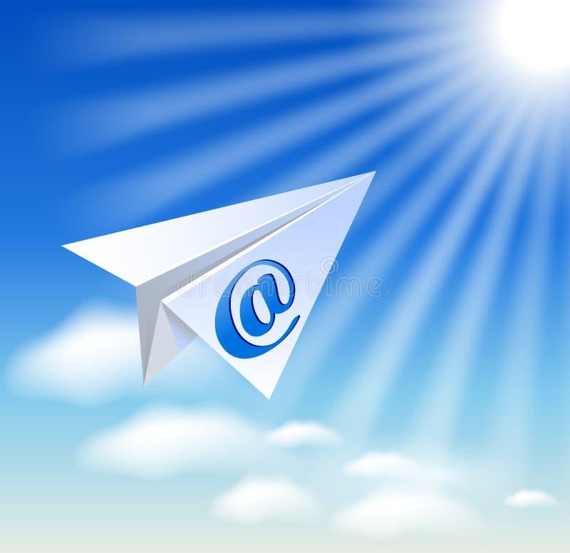 Download Бумажный самолет с Sig электронной почты Иллюстрация вектора - иллюстрации насчитывающей природа, бумага: 33734761