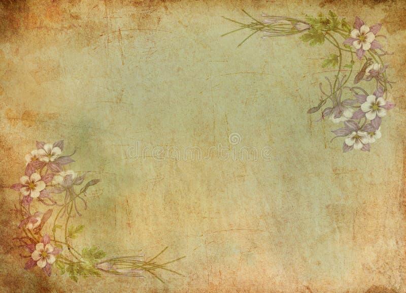 бумажный сбор винограда иллюстрация штока