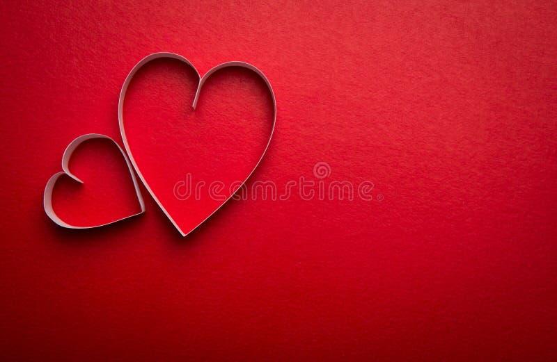 Бумажный символ формы сердца на день Валентайн с космосом экземпляра стоковые фотографии rf