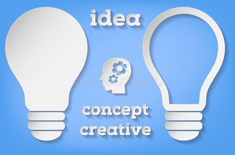 Бумажный символ шарика в 2 версиях - концепции идеи бесплатная иллюстрация
