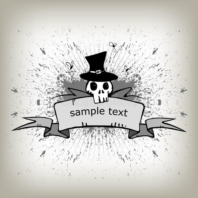 бумажный скелет переченя иллюстрация штока