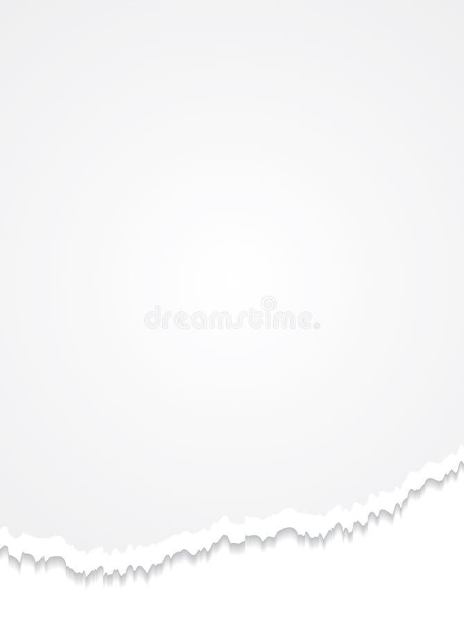 бумажный сорванный лист иллюстрация вектора