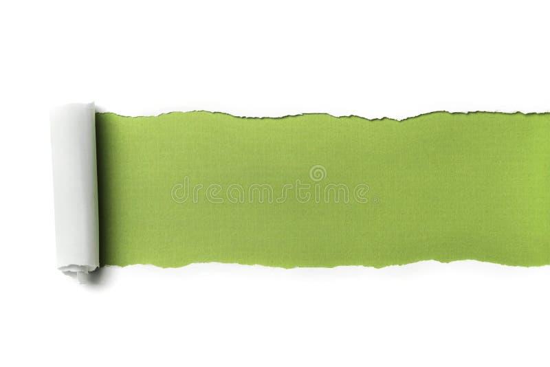 бумажный сорванный текст космоса стоковая фотография rf