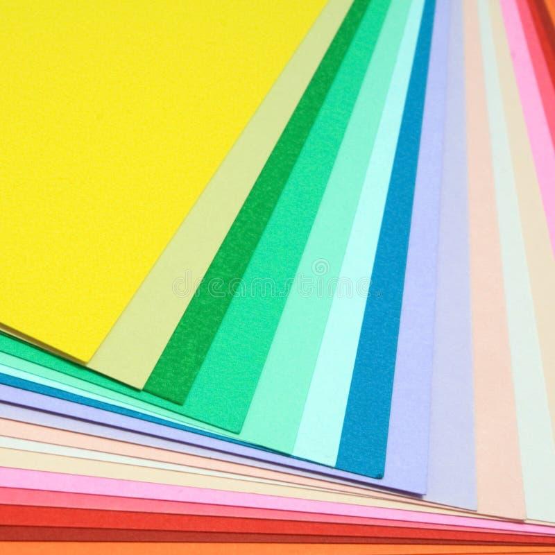 Бумажный цвет стоковое изображение