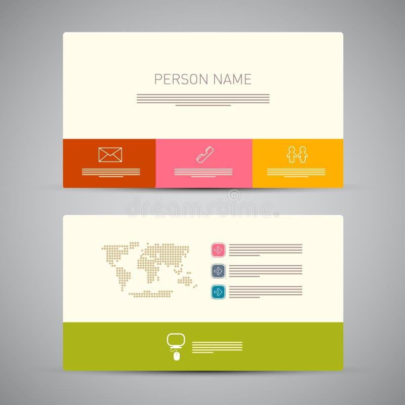 Бумажный шаблон визитной карточки иллюстрация штока