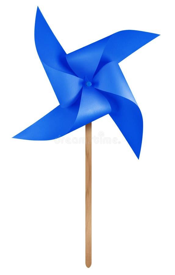 Бумажный pinwheel ветрянки - синий стоковые фотографии rf