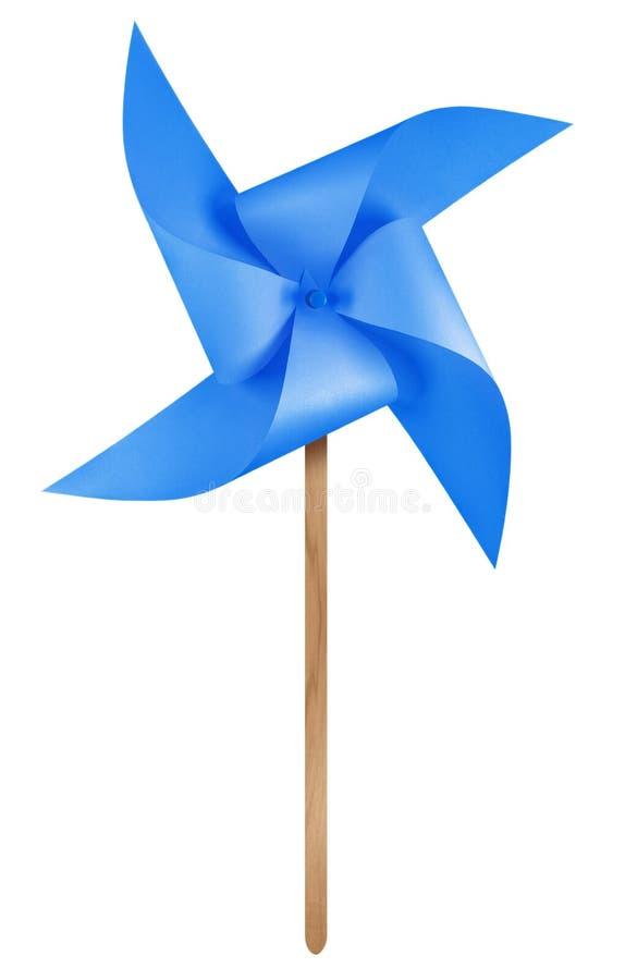 Бумажный pinwheel ветрянки - синь стоковая фотография