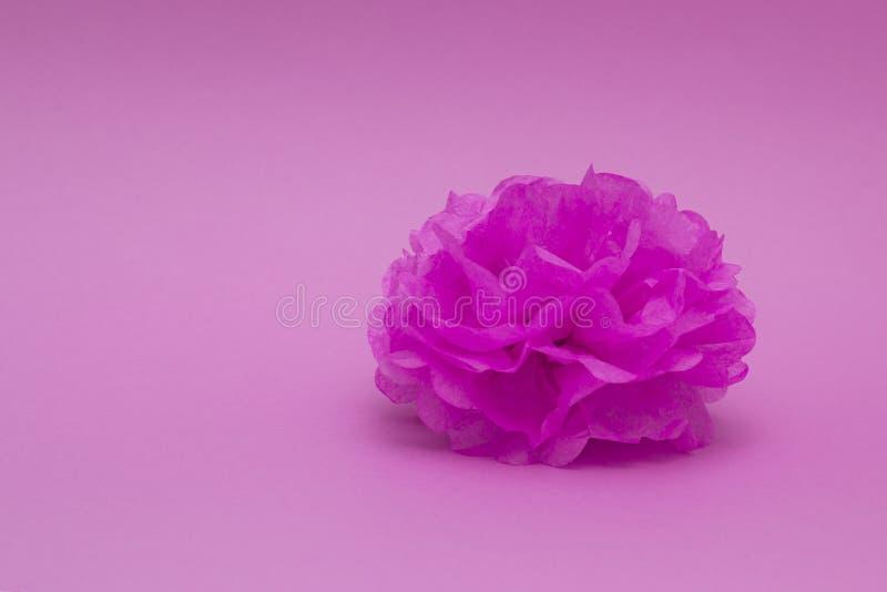 Бумажный pompom для украшения на предпосылке цвета Дом, свадьба, украшение партии стоковые изображения
