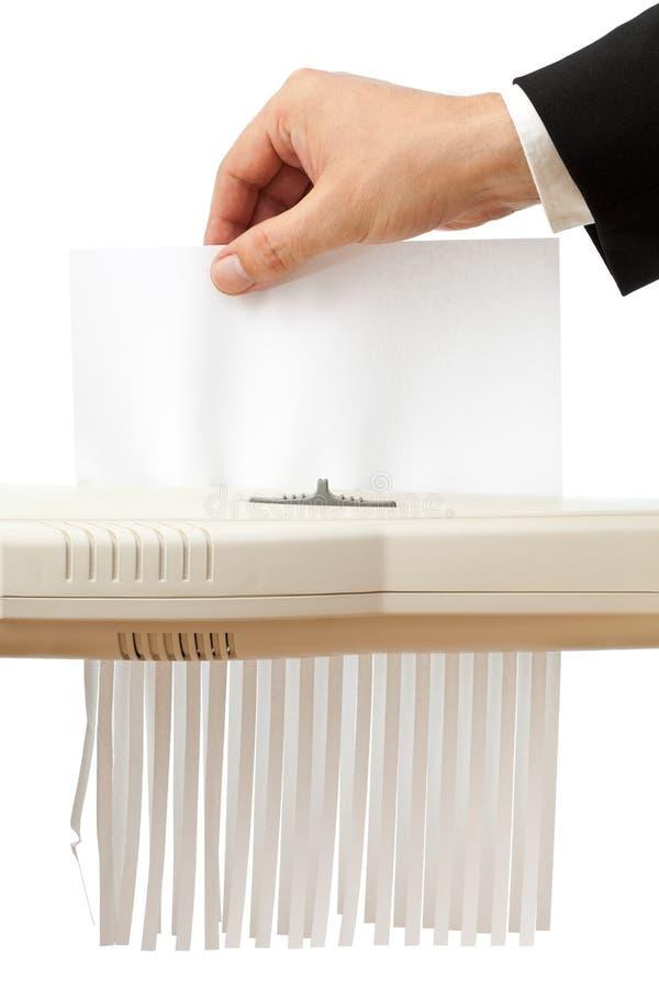бумажный shredding стоковое изображение