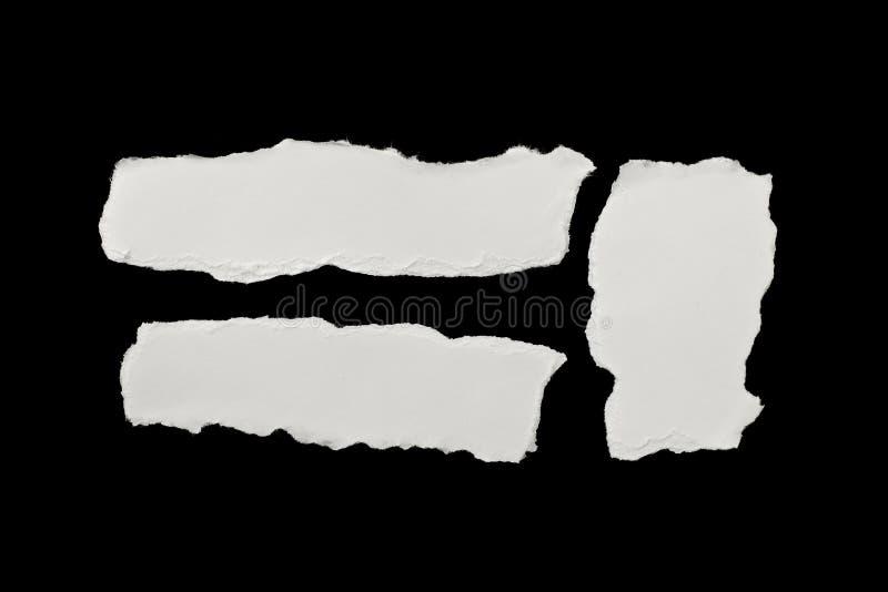 бумажными белизна сорванная частями стоковое фото rf