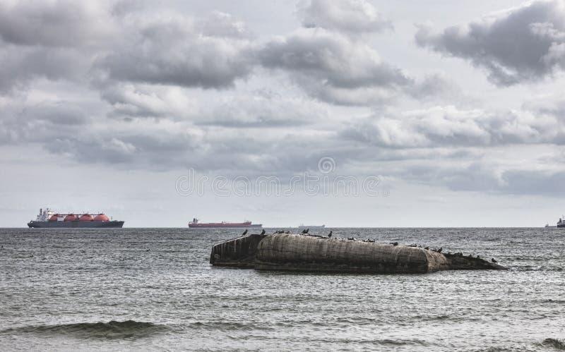 Бункер Вторая мировой войны на Gren в Skagen стоковое фото rf